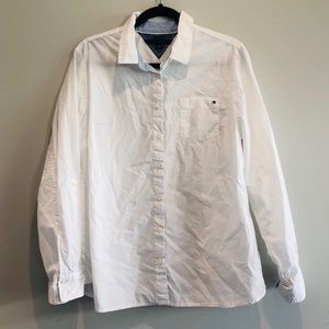 Solid white Tommy Hilfiger Button Down Blouse